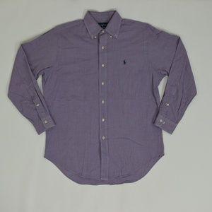 Ralph Luren Regular 15 1/2 Purple   Button Down Co